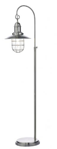 Dar Terrace Floor Lamp Antique Chrome TER4961 (Class 2 Double Insulated)